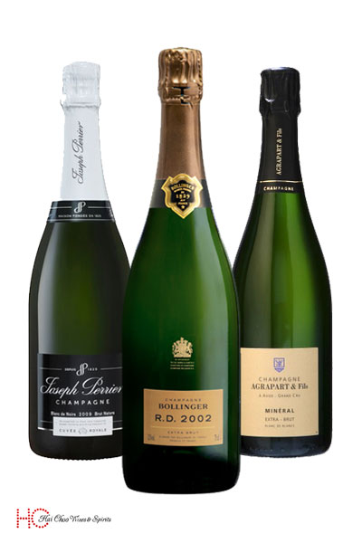 Bollinger RD 2002 Champagne Agarpart Mineral 2008 Joseph Perrier Brut Millesime 2008